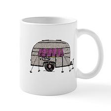Vintage Airstream Camper Trailer Art Mug