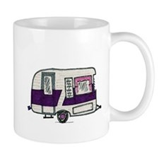Cutie Purple VIntage Trailer Small Mug