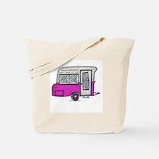 pinky vintage camper trailer Tote Bag