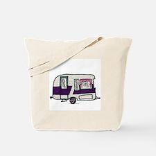 Cutie Purple VIntage Trailer Tote Bag