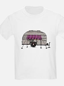 Vintage Airstream Camper Trailer Art T-Shirt