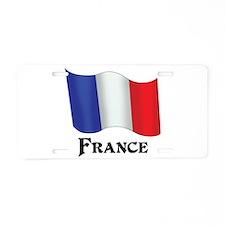 Flag of France Aluminum License Plate
