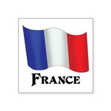 "Flag of France Square Sticker 3"" x 3"""