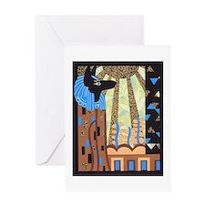 Klimts Anubis Greeting Card