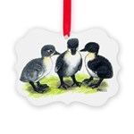 Blue Swedish Ducklings Picture Ornament