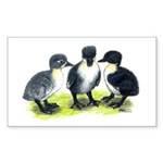 Blue Swedish Ducklings Sticker (Rectangle 10 pk)