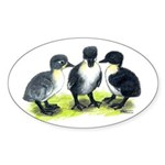 Blue Swedish Ducklings Sticker (Oval)