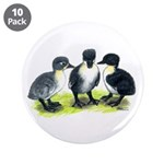 "Blue Swedish Ducklings 3.5"" Button (10 pack)"