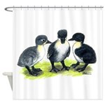 Blue Swedish Ducklings Shower Curtain