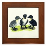 Blue Swedish Ducklings Framed Tile