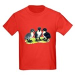 Blue Swedish Ducklings Kids Dark T-Shirt