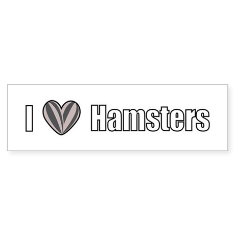 I Love Hamsters Sticker (Bumper)