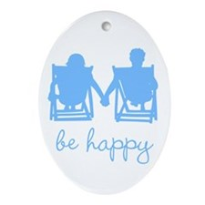 Be Happy Ornament (Oval)