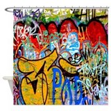Graffiti shower curtain Shower Curtains