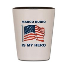 marco rubio is my hero.png Shot Glass
