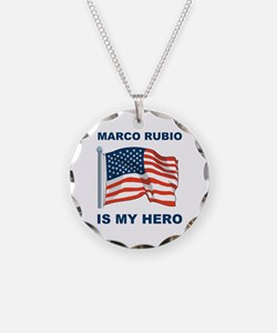 marco rubio is my hero.png Necklace