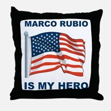 marco rubio is my hero.png Throw Pillow