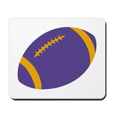 Purple and Gold Football Mousepad