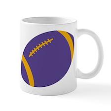 Purple and Gold Football Mug