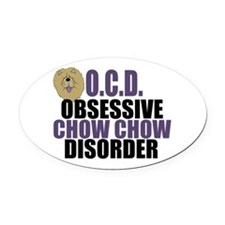 Funny Chow Oval Car Magnet