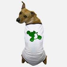 Green Squirrel on Scooter Mosaic Dog T-Shirt
