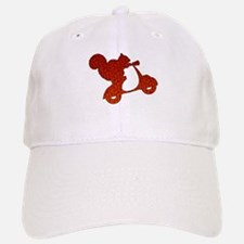 Red Squirrel on Scooter Mosaic Baseball Baseball Cap