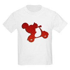 Red Squirrel on Scooter Mosaic T-Shirt