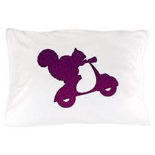 Purple Squirrel on Scooter Mosaic Pillow Case