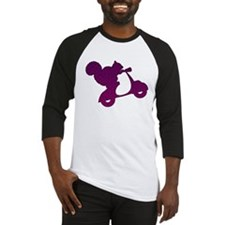 Purple Squirrel on Scooter Mosaic Baseball Jersey