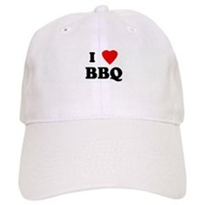 I Love BBQ Baseball Cap