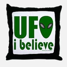 UFO I BELIEVE Throw Pillow