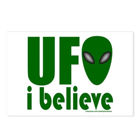 UFO I BELIEVE Postcards (Package of 8)