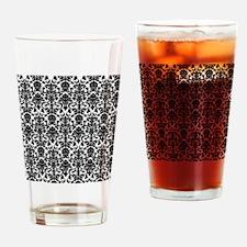 Black Damask Drinking Glass