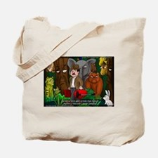 Nature Abhors This Cartoon Tote Bag