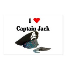 I Heart Captain Jack Postcards (Package of 8)