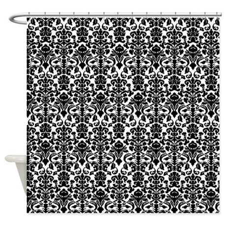 Black Damask Shower Curtain By Inspirationzstore