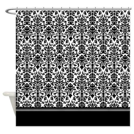 Baroque gifts baroque bathroom d 233 cor black damask shower curtain
