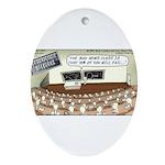 Sperm 101 Ornament (Oval)
