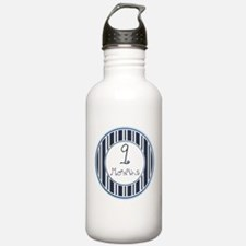 Nautical Stripes 9 Months Water Bottle