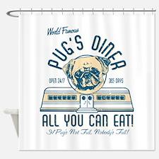 Pug Diner Shower Curtain