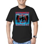 Zombie Hunter Men's Fitted T-Shirt (dark)