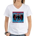 Zombie Hunter Women's V-Neck T-Shirt