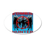 Zombie Hunter 20x12 Oval Wall Decal