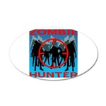 Zombie Hunter 35x21 Oval Wall Decal