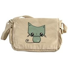 Omanju Neko Blue Messenger Bag