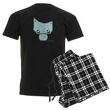 Omanju Neko Blue Pajamas