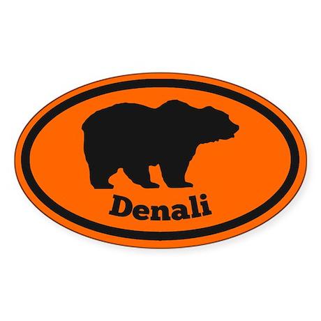 Denali Natl Park Sticker (Oval)