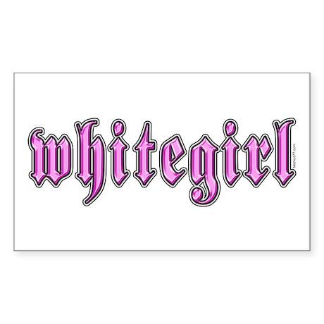 Whitegirl Rectangle Sticker