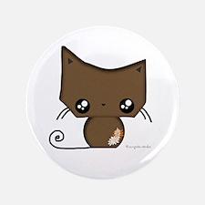 """Omanju Neko Brown 3.5"""" Button"""