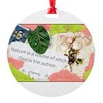 Nature Quote Collage Round Ornament